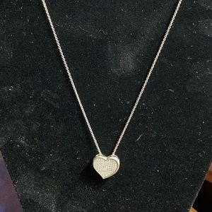 Nordstrom crystal heart necklace